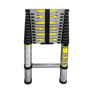 3.8M Multi Purpose Aluminium Telescopic Ladder Extension Extendable 12 Steps