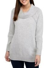 Kim Rogers Long Sleeve Cowl Neck Sweater - Gray - XL