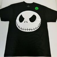 The Nightmare Before Christmas Glow in The Dark Jack Skull Tshirt Black Size L