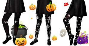 Girls kids halloween fancy party tights 6-16 years