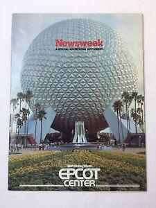 1982 Newsweek Advertising Supplement ~ WALT DISNEY WORLD - EPCOT CENTER
