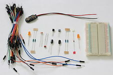 Electronics Kit with Breadboard, Jumper Wires, Components & Flip Flop Schematic