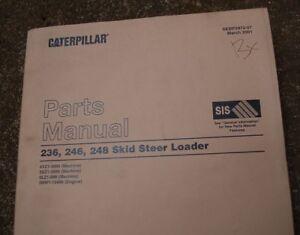 CAT Caterpillar 236 246 248 Skid Steer Loader Parts Manual Catalog Book 2001 OEM