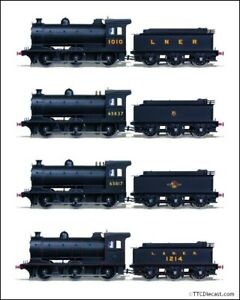 Oxford Rail LNER / BR J27 Class locos, variants available including sound fitted