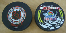 NEW Columbus Blue Jackets Official Hockey Puck In Glas Co Hologram NHL Stinger