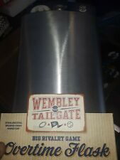 Wembley Tailgate 64 Oz Stainless Overtime Flask sealed new, bin56
