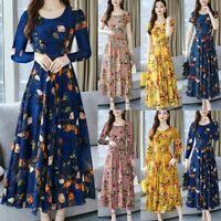 Floral Sundress Summer  Short/Long Sleeve Women     Ladies  Party Dresses