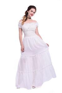 Women Medieval Renaissance Rococo Night Princess Multicolor Cotton Dress Costume