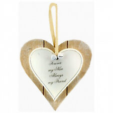 Forever My Nan Always My Friend Double Heart Hanging Wall Plaque