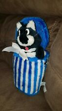 "Stray Alley Cat in trash can Plush 10"" 1984 A-1 Novelty Co. RARE"