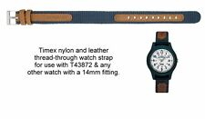 Vera Pelle/Nylon-Timex Expedition Thread-through Watch Strap-t43872