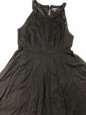 Torrid women black flare dress size 14 halter neck sleeveless rayon pleated 73