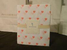 Pottery Barn Kids Teen Heart Sheet Pink and White Queen Sheet Set NWT