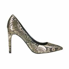 Topshop GALLOP Gold Brocade Court Shoes Size Uk6/39 BNIB