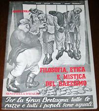 FILOSOFIA, ETICA E MISTICA DEL RAZZISMO - Julius Evola - Sentinella d'Italia