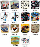 Lampshades Ideal To Match Vintage & Retro Cars Cushions & Vintage Cars Duvets.