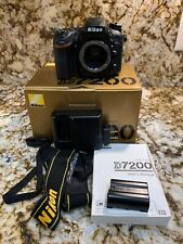 Nikon D7200 24.2 MP Digital SLR Camera Black Body Only