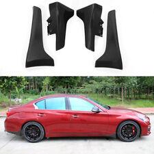 4X Carbon Fiber Molded Splash Guards Mud Flaps Front Rear For Infiniti Q50 Q50L