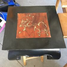 Small Asian Style Table*CUSTOM EPOXY*Fractal Burn*Short END Table*Wood Craft
