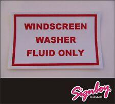 Windscreen Washer Bottle STICKER Classic Car MINI / Beetle / MG etc. Screen Wash