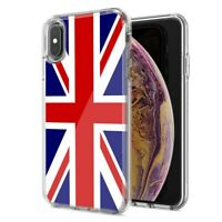 For Apple iPhone XR UK England British Flag Design Double Layer Phone Case Cover