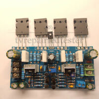 DIY Mono 200W power amplifier board 1943+5200 high power pair tube rear stage