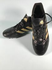 Adidas Mens Black & Gold Football Boots Size 11 Adults