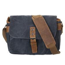 Waterproof Canvas Leather Trim DSLR SLR Camera Bag Mimi Messenger Shoulder Bag