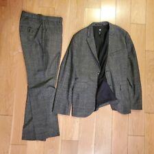 H&M Gray Plaid Suit - Blazer 38R + Pants Size 33R Slim Fit