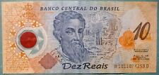 BRAZIL 10 REAIS COMMEMORATIVE POLYMER  PLASTC  NOTE FROM YEAR 2000, P 248 b,