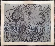 Lithographie von Pablo Picasso Handsigniert.