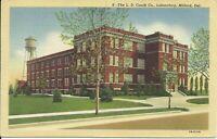 Milford Kent County Delaware Caulk Laboratory Walnut Street 1930s Postcard