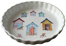 Bech Huts Pattern 25cm Ceramic flan Quiche Dish