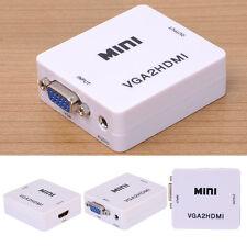For PC TV DVD Mini VGA to HDMI High Definition Converter VGA Input HDMI Output
