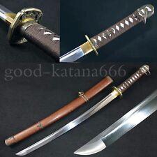 30inch Japanese Samurai Sword Manganese Steel 98 Type Officer Katana Wakizashi