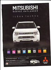 MITSUBISHI OUTLANDER Publicité de Magazine . Magazine advertisement. 2012
