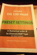 Yamaha DG130 (y DG100 -212 Presets un **) (80) - configuración + plantilla (asegurado PDF)
