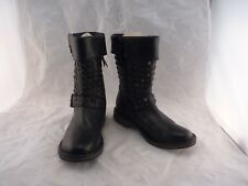 New Ugg's Black Leather Studded Calf Boots  6 1003605