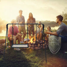 Folding Outdoor Campfire Cooking Swing Grill Stand Bonfire Bbq Camping Fire Tool