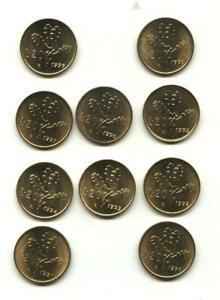 LOTTO 10 MONETE DA LIRE 20 DAL 1990 AL 1999 IN FDC DA ROTOLINO