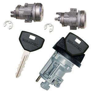 Chrysler Ignition Key Switch Lock Cylinder & Two Door Lock Tumbler Set 2 Keys