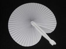 Fächer Handfächer Papierfächer Taschenfächer, einfach Weiß Faltbar ca.26,5 x 24