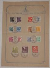 Alliierte Besetzung - GEDENKBLATT - Deutsche PRESSEAUSSTELLUNG Düsseldorf 1947