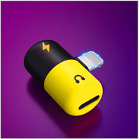 iPhone X 7 8 Plus Dual 2in1 Lightning Earphone Audio Charger Adapter Splitter