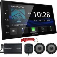 """Kenwood DDX5707S 6.8"""" Apple CarPlay/Android A Stereo w SiriusXM Tuner & Speakers"""