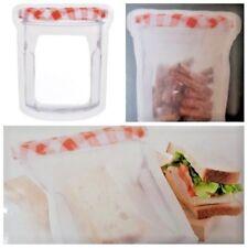 Zipper Mason Jar Bags Storage Jam Jars Large Snack Sandwich Reusable Bags