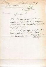 LETTRE AUTOGRAPHE-GUY d'AUMONT de ROCHEBARON-GÉNÉRAL-RÉVOLUTION-OISE-1791