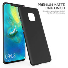 Huawei Mate 20 Pro Case Slim Silicone Ultra Soft Gel Phone Cover - Matte Black