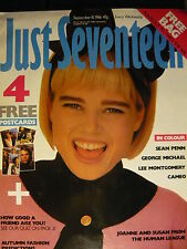 JUST SEVENTEEN MAGAZINE 10/9/86 - GEORGE MICHAEL - THE HUMAN LEAGUE