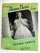 Songs Deanna Durbin Sings Song Book from 1938 #413